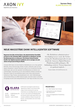 Neue Massstäbe dank intelligenter Software