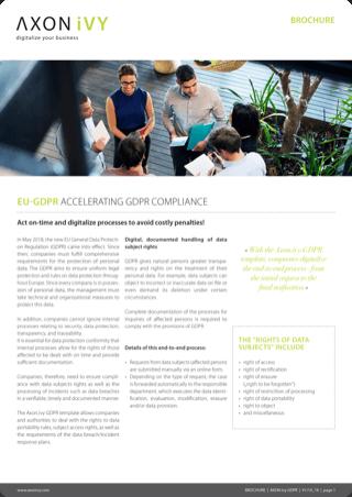EU-GDPR: Accelerating GDPR compliance