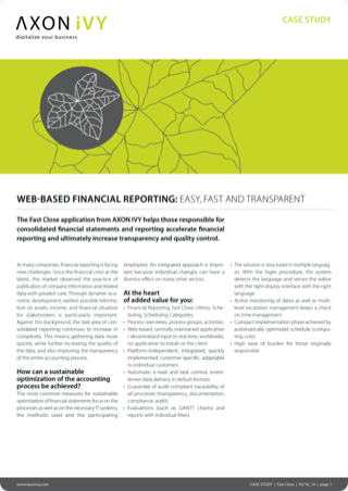 Financial reporting fast and transparent at the push of a button